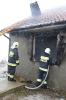 Pożar domu w Smolance